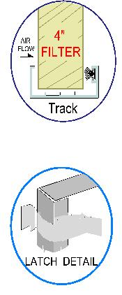 Filter Track and Latch Detail